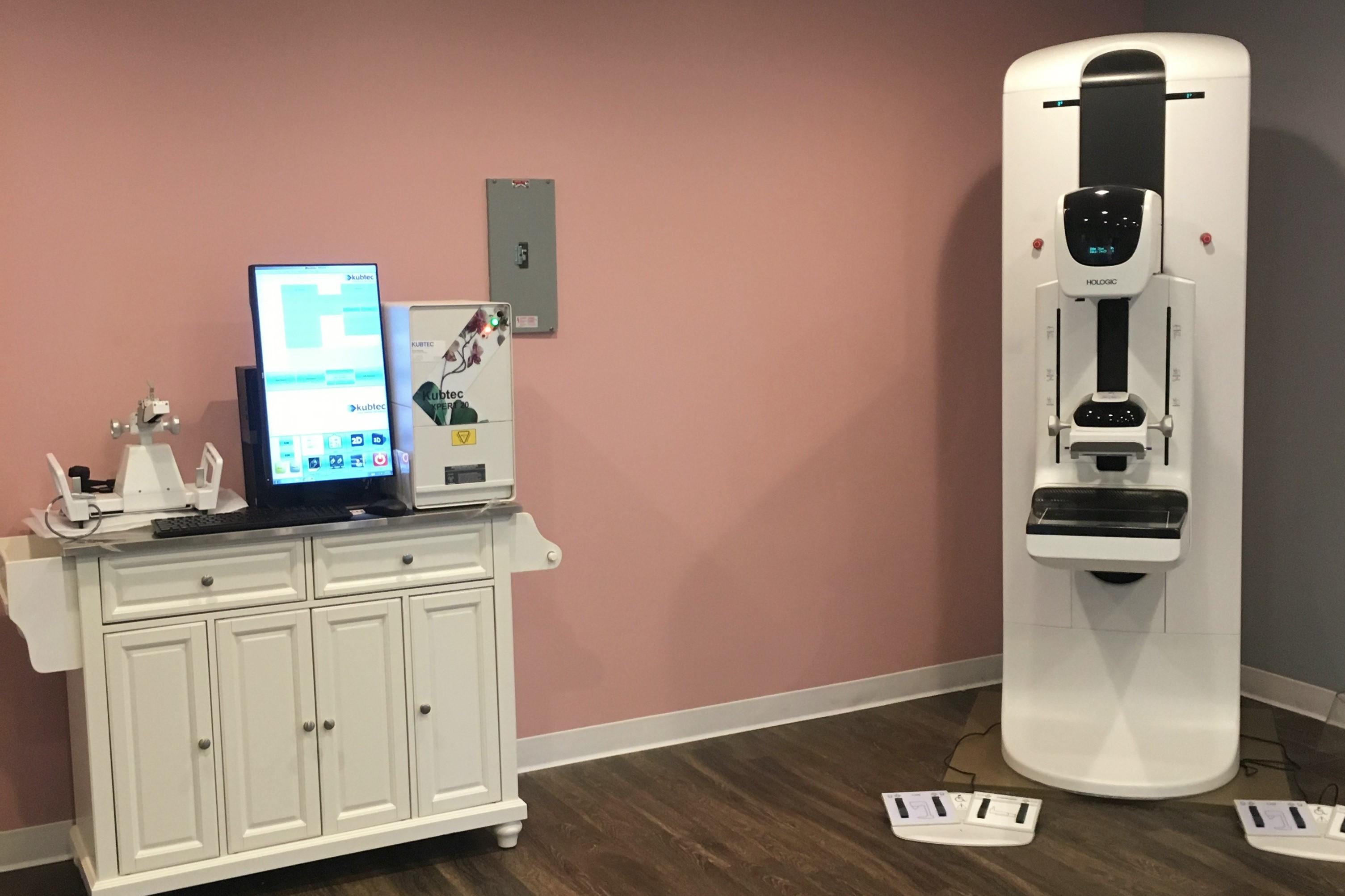 mammogram and biopsy room